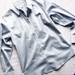 Banana Republic Blue Button Up Dress Shirt